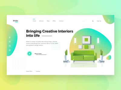 Artville Design Interior Decor Webpage Concept