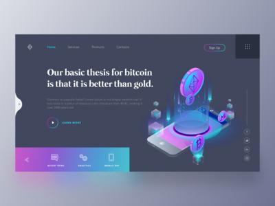 Bitcoin Webpage Concept