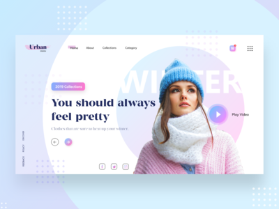 Urban Fashion Webpage Concept