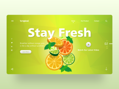 Tropical Webpage Concept