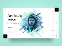 Art Gallery Webpage Concept