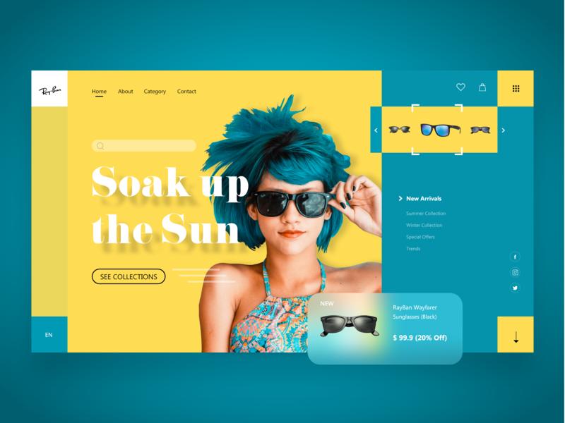 RayBan Sunglasses Webpage Concept