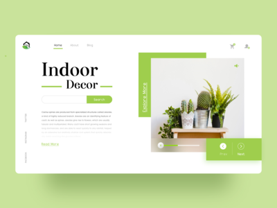 Indoor Decor Webpage Concept