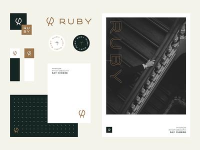 Ruby Stylescape photography mark identity mirror photobooth logo branding ruby
