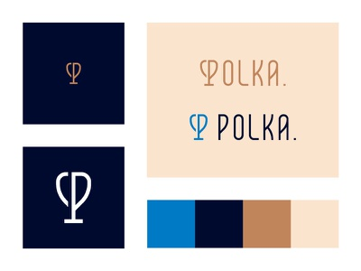 Polka. Exploration monogram race mark colors logo branding typography type cycling polka. p trophy