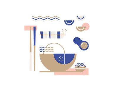 Food illustration vector food japan dumplings egg rice bowl