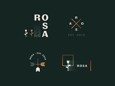 Rosa R Brand Elements premium identity rose logo branding rosa