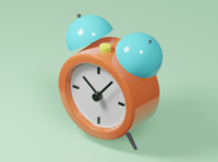 Clock icon lowpoly3d lowpoly interior japan minimal c4d cinema4d isometricart isometric design illustration 3d 3dcg blender3d blender