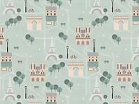 Paris Map Pattern