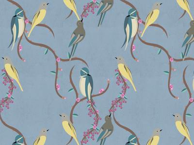 Oriental Birds Pattern