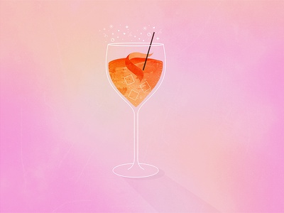 Aperol Spritz italy texture illustration illustrator glass wine cocktail aperol