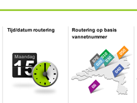 Some of the number routing options (Dutch)