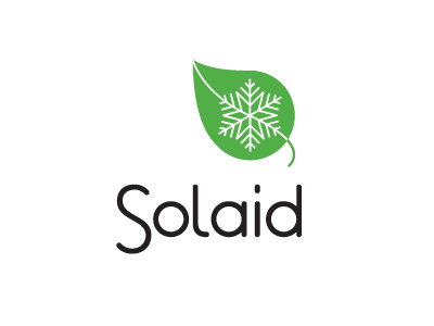 SolAid (Snow On Leaf) logo concept education health snow on leaf snow leaf ngo non-profit 38one identity logo solaid