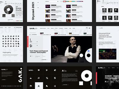 GAK Gdańsk - Gdański Archipelag Kultury gdansk interface interaction design illustration design webdesign agency ux ui adobexd