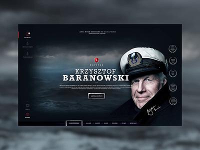 Sailor Krzysztof Baranowski captain photoshop adobexd sailing sailor illustration interface webdesign ui agency
