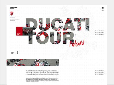 Ducati Tour Poland design interaction design ducati motorbike motorcycle photoshop ux interface webdesign ui agency adobexd