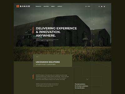 BANAIR photoshop interaction design agency design ux interface webdesign ui adobexd plane tent military