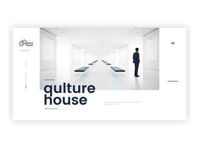 Qulture house clean design olsztyn poland simple clean interface simple design typogaphy art culture interaction design photoshop ux agency design webdesign interface ui adobexd