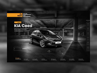 PL RENT rental web website graphicdesign motion design interaction design car clean design simple design rent car poland olsztyn automotive interface design webdesign ux ui