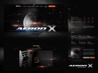 Aeron-x adobexd simple design clean design agency modern dark web bicycle graphic design webdesign interface design ui ux