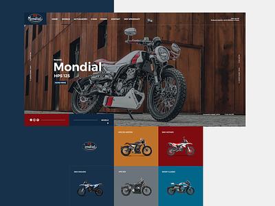 FB Mondial modern layout website web motoribike motorcycle motorbikes motorcycles webdesign ux interface design adobexd ui agency