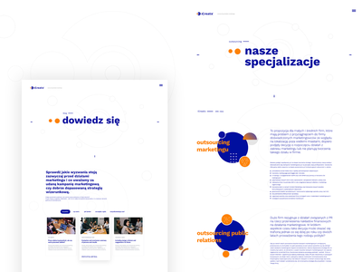 iCreatix uxdesign web typography modern new blue uidesign animation illustration webdesign ux interface design adobexd ui agency
