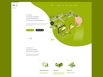 ilabo isometric design isometric green softwarehouse software itwebsite it modern graphic design webdesign interface adobexd uidesign uxdesign design ux ui agency