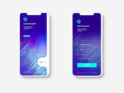 GOVERapp blue new communications office app office modern app design app graphic design webdesign interface adobexd design ux design ui design ux ui agency