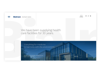 Bialmed xd adobe website modern white healthcare clean graphic design ux design ui design webdesign interface adobexd design ux ui agency