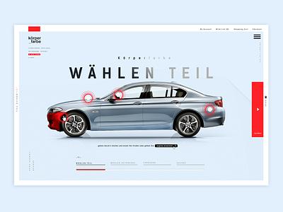 Corpen Teil automotive bmw interaction design photoshop webdesign interaction interface ux agency typography design ui adobexd