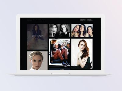 Makeup Artist Website Mockup