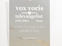 Vox Vocis & Televangelist - House Show