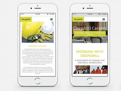 Deepdrill | Careers nigeria web design website gas oil careers green lime