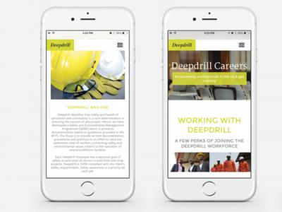 Deepdrill   Careers nigeria web design website gas oil careers green lime