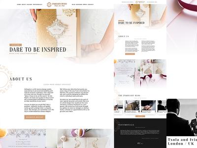 Inkhearts Studio   Home redesign gold website ux ui photography nav direction wip studio paper inkhearts