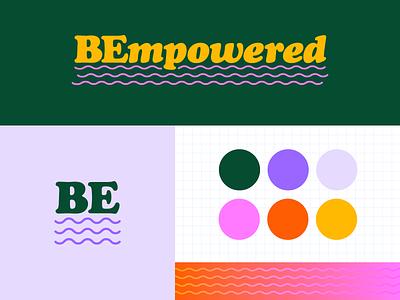 BEmpowered Brand Identity modular vector waves pattern color palette logo brand brand identity empowerment women internal branding tech branding design graphic design