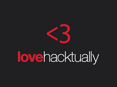 Love hacktually hackathon tshirt design