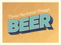 Beer travel postcard