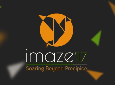 imaze 2017 Logo Design fonts typography festival tricolor india original art 2017 sun fly bird origami adobe illustrator photoshop adobe photoshop realistic student illustration branding logo design logo