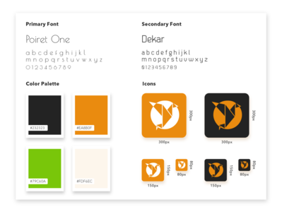 Style Guide Design ux ui guide minimal font fonts.com fontself icon app icon icons palette color palette color fonts typography style guide style
