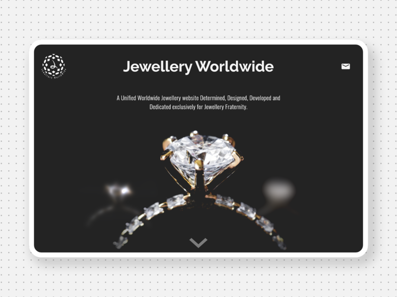 Jewellery Landing Page minimalistic mail world black ring jewellery jewelry ux design uxdesign ui  ux uiux landing page landingpage ux logo design ui minimalism minimalist minimal