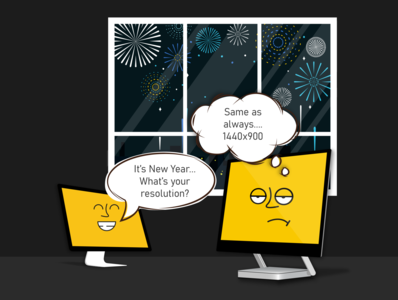 New Year Resolution monitor comic resolution face sad face sad happt year new new year