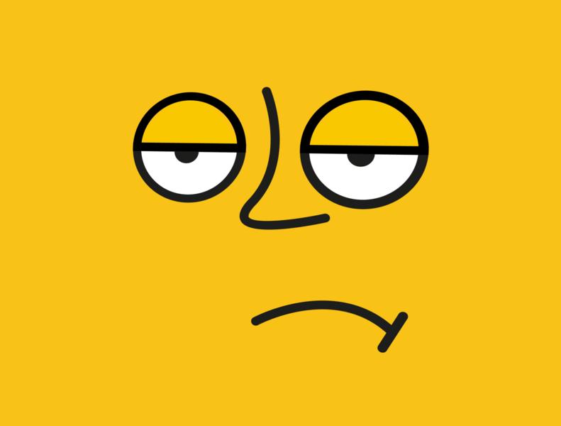 Annoyed Face emoji comic adobe illustrator illustration minimalist minimal annoyed sad face sad