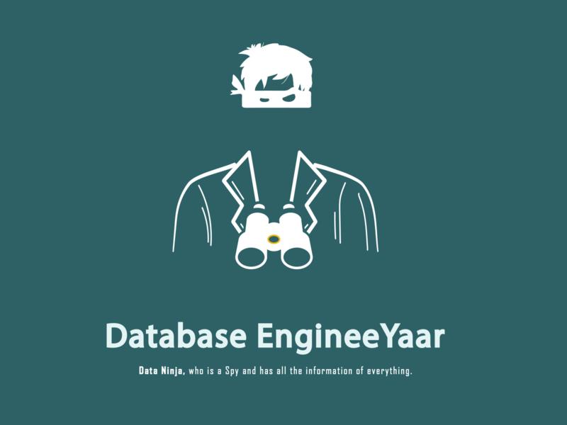 Minimalist Character Design information character design character illustration adobe illustrator logo data ninja engineers engineer database