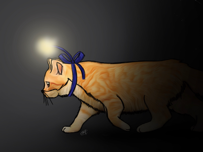 Critical Role Fan Art: Frumpkin in the Dark