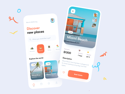 Travel App ✈️ travel agency illustration emoji payment adventure uiux flight pay card vacation trip tourism app tickets travel ios mobile clean ux ui