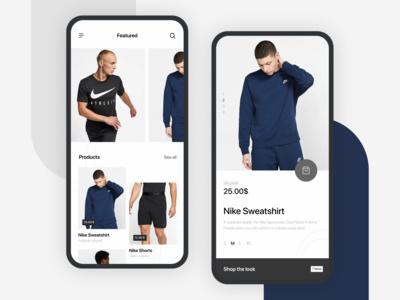 Nike App — Online Store Concept