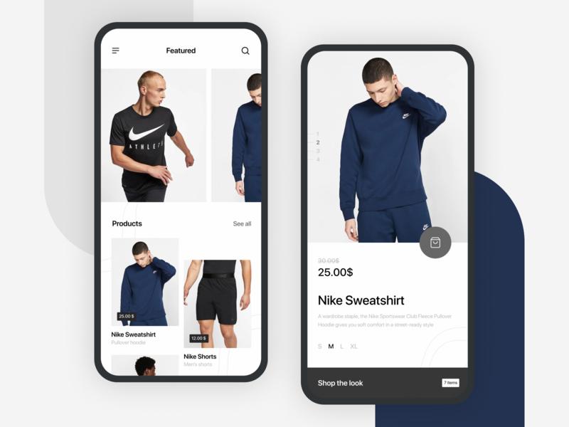 Nike App — Online Store Concept store interface clean ios flat design shop mobile ui app mobile ux