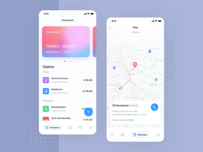 Q Insurance – Concept illustration clean minimal onboarding payment ios fintech flat interface money banking app mobile financial insurance ux ui ui ux