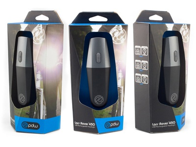 PDW Bicycyle Headlight Packaging packaging portland portland design works die line